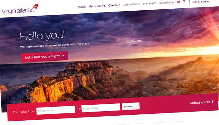 Access to Virgin Atlantic Sports Fares