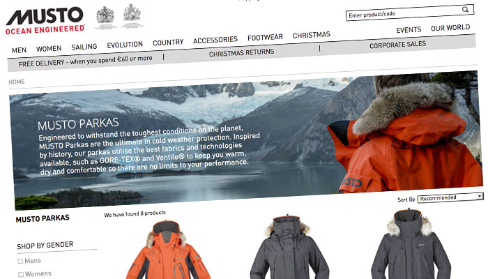 Discounts on Musto Clothing
