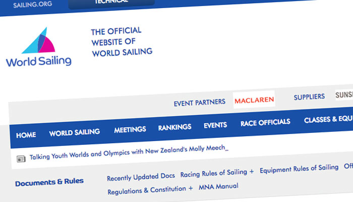 World Sailing Special Regulations