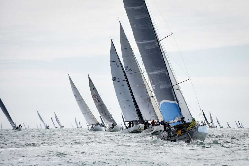 The start of the 2017 Cervantes Trophy Race - photo RORC/Rick Tomlinson