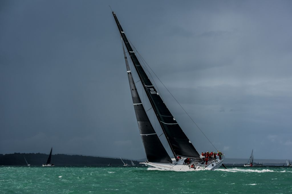 George David's American Canting Keel Maxi, Rambler 88 continue their devastating form by winning the RORC Channel Race - photo Rick Tomlinson