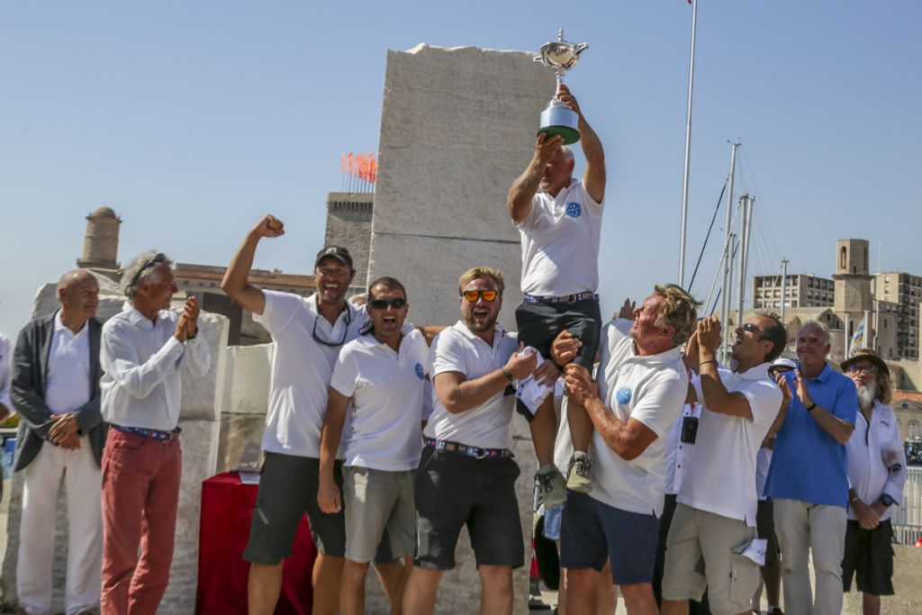 Guy Claeys' crew from the JPK 10.10 Expresso 2 are crowned the 2017 Marseille IRC European Champions  © Pierik Jeannoutot