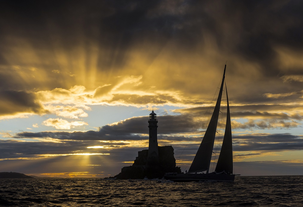 The defining landmark of the Rolex Fastnet Race - the Fastnet Rock. Credit: ROLEX/Kurt Arrigo