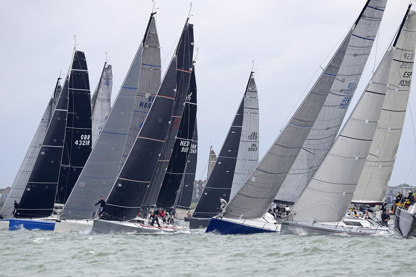 The fleet from day 3 of the 2016 IRC National Championships © Rick Tomlinson