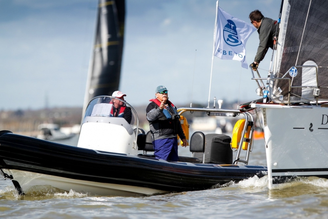North U. Regatta Services coaches at the RORC Easter Challenge © RORC/Paul Wyeth/pwpictures.com