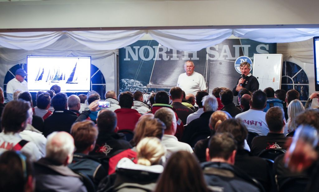 Jim Saltonstall and North Sails debrief after racing © Paul Wyeth