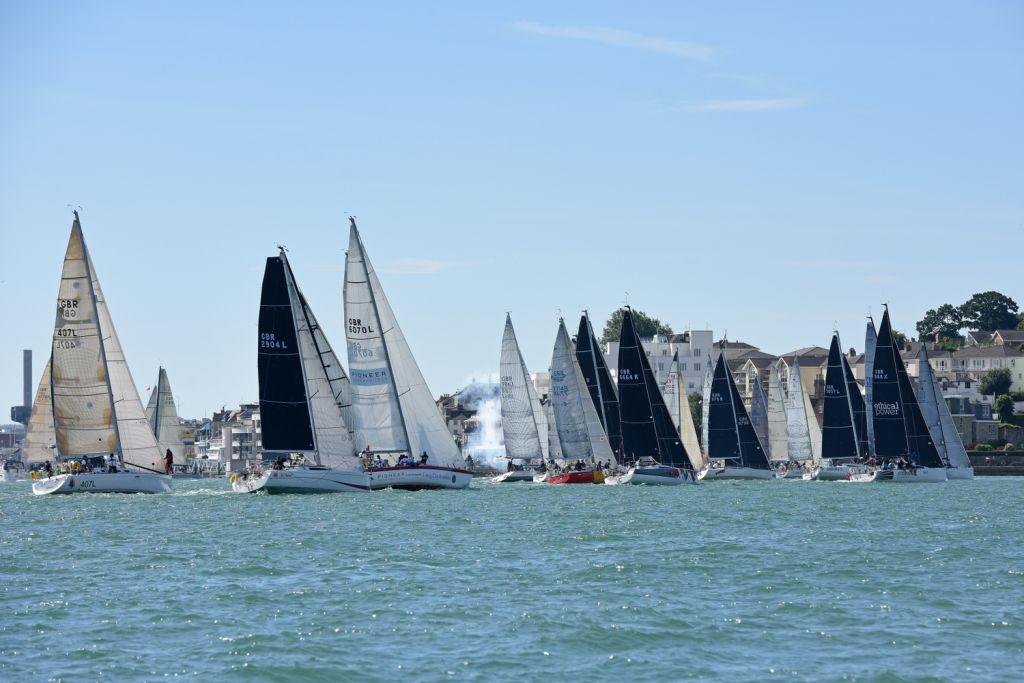 The RORC Channel Race will start from the Royal Yacht Squadron, Cowes at 1000 BST Sat 22 July - photo Rick Thomlinson