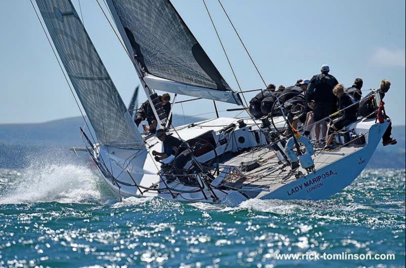 Lady Mariposa Racing Ltd, skippered by Dan Hardy was the winner of the 2017 RORC Cherbourg Race - Photo Rick Tomlinson