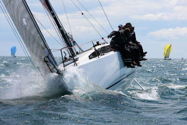 Arnaud Delamare and Eric Mordret's JPK 10.80 Dream Pearls wins the RORC De Guingand Bowl - photo JPK