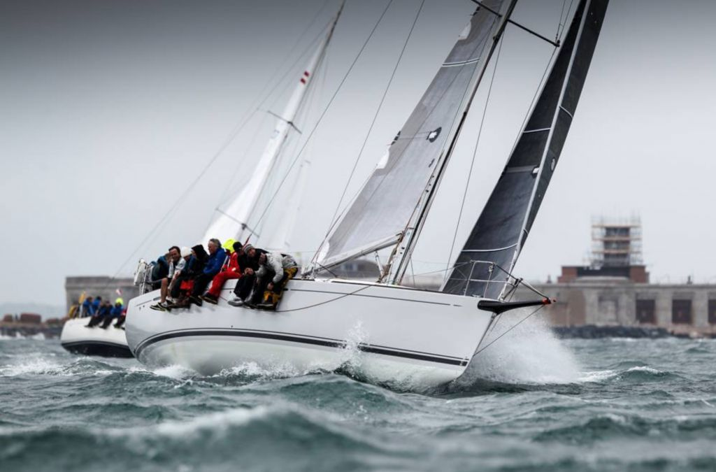 Nick & Suzi Jones's First 44.7 Lisa, skippered by RORC Commodore Michael Boyd - photo Paul Wyeth