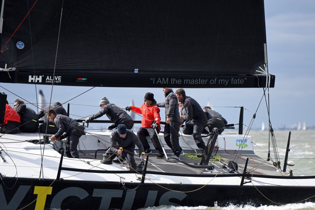 Three bullets for Invictus on opening day of  RORC Easter Challenge