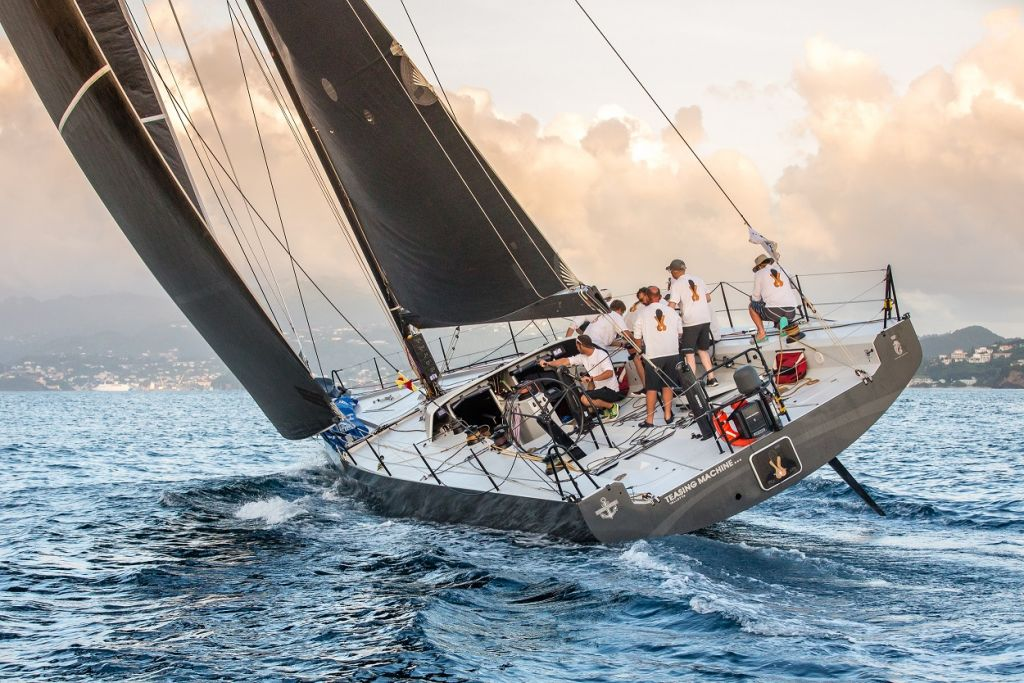 Eric de Turckheim's French Teasing Machine is one of eleven French boats competing in the RORC Caribbean 600 Race this year © RORC/Arthur Daniel