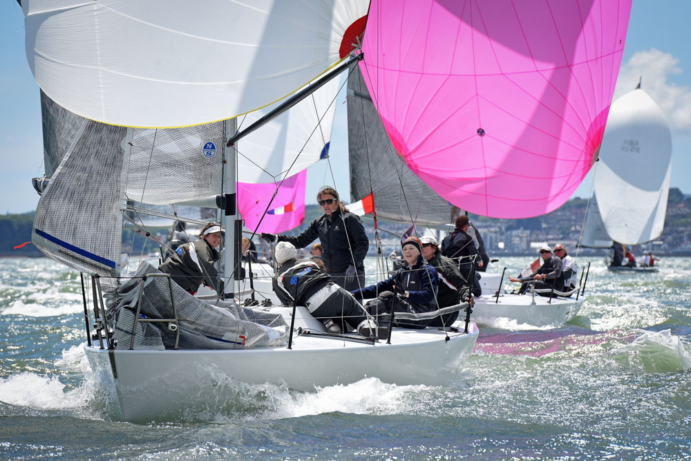 Louise Morton's all girls team racing the Quarter Tonner Bullit - photo RORC/Rick Tomlinson
