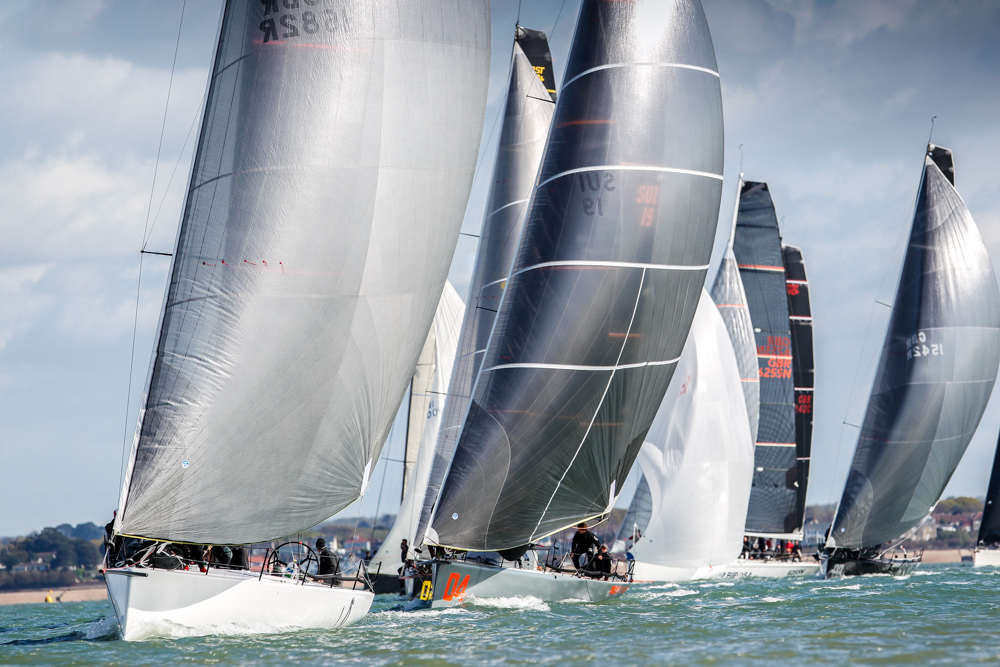 Tokoloshe leads the FAST 40+ fleet at the RORC Easter Challenge but star performer throughout the regatta was  Sir Keith Mills' Invictus. © Paul Wyeth/pwpictures.com
