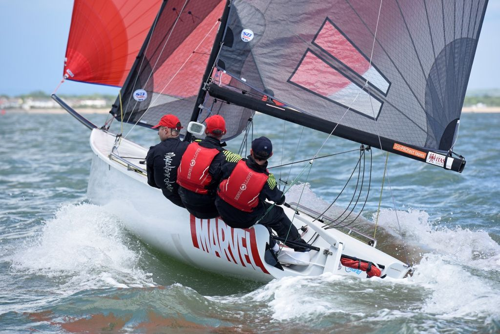 SB20 'Marvel' at the 2017 Vice Admiral's Cup. The 2018 event will incorporate the SB20 Southern Area Championships © Rick Tomlinson