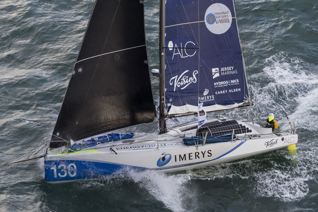 "Phil Sharp's British Class40 Imerys Clean Energy. ""It is a coastal race but you rarely see land and the course takes you further north than just about any offshore race,"" says Sharp who is racing with Pablo Santurde and Julien Pulve © Jean-Marie Liot"