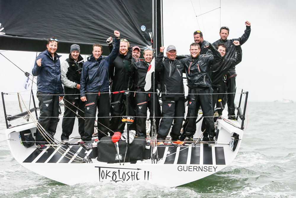 IRC One was dominated by Mike Bartholomew's GP42 Tokoloshe II who also secured a clutch of prizes for Best Offshore Boat, Best Inshore Boat 1st IRC One in the Race Around the Isle of Wight and second overall in the IRC European Championship © Paul Wyeth/pwpictures.com