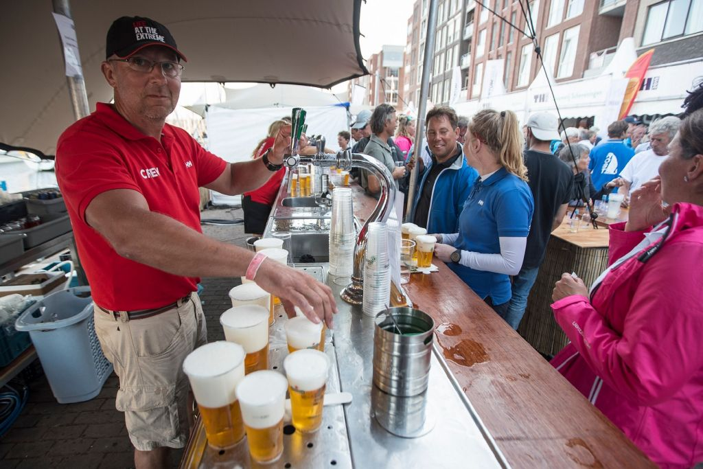 Apres racing refreshment in the race village © Sander van der Borch