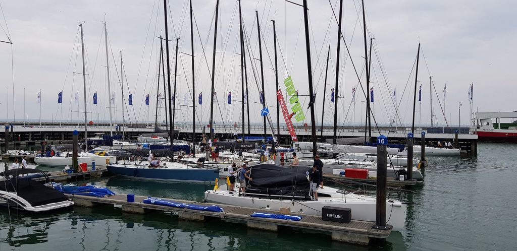 Crews make final preparations before the start of the IRC Europeans and Commodores' Cup on Sunday 10th June in Cowes © RORC