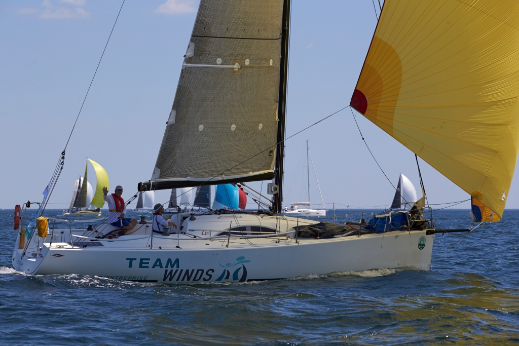 Hey Joe, A35 owned by SNT President Antoine Croyere, winner of the double-handed class © Jacques Vapillon