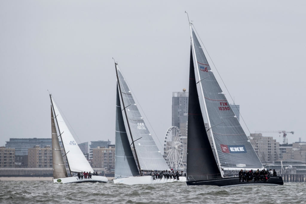 The North Sea Regatta in May was a preview of what's to come at the Worlds, with inshore race courses within view of the beach at Scheveningen © Sander van der Borch