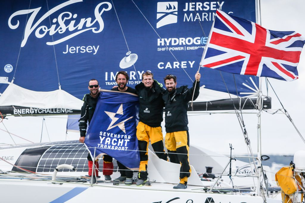 Phil Sharp's Class40 Imerys Clean Energy has taken line honours, Class40 win and a set a new world record in the Sevenstar Round Britain and Ireland Race © Paul Wyeth/RORC