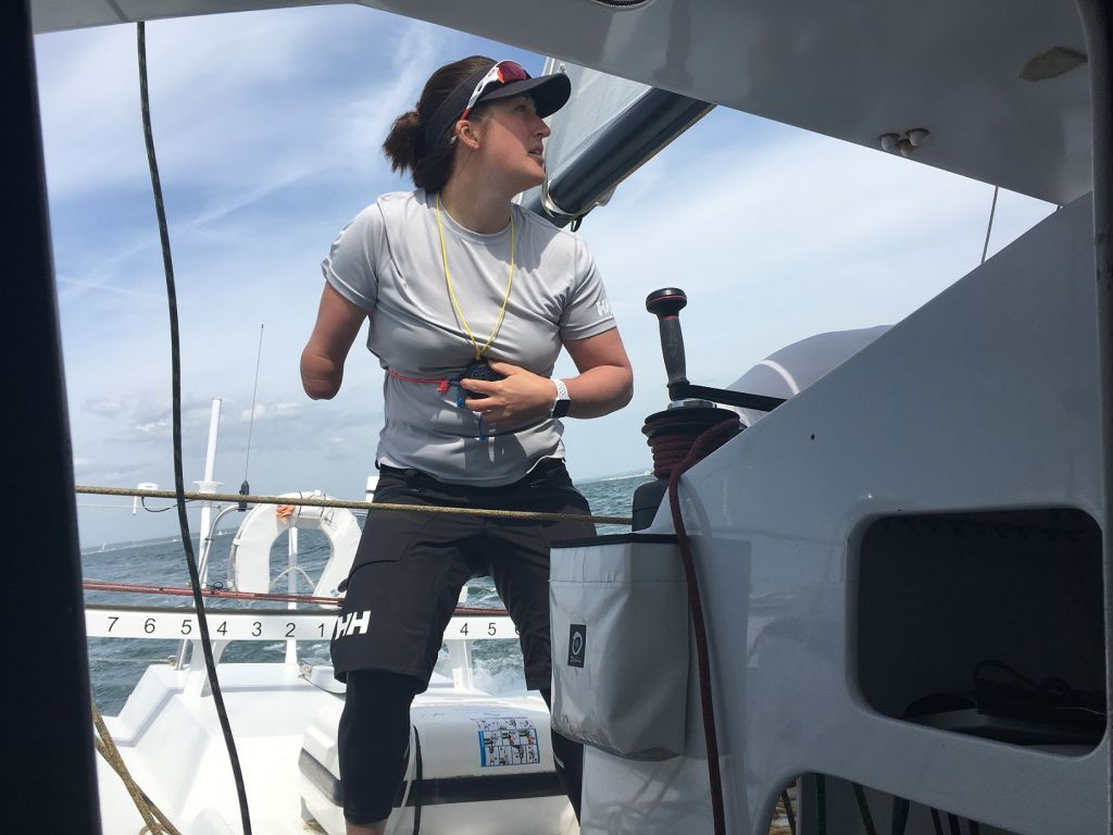 Paralympic sailor Hannah Stodel is hoping to becoming the first disabled sailor to take on and complete the Vendee Globe. She has chosen Region Normandie, the Class40 as her training for this and the Sevenstar Round Britain and Ireland Race represents an early test on her journey © https://www.hannahstodelracing.com/