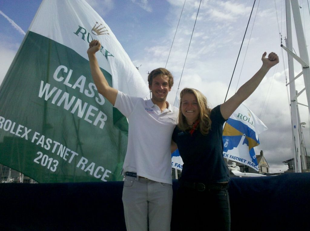 Two handed coaching at the RORC Easter Challenge by Nikki Curwen who won the two handed Figaro class in the 2013 Rolex Fastnet Race with top French skipper Charlie Dalin © Rolex