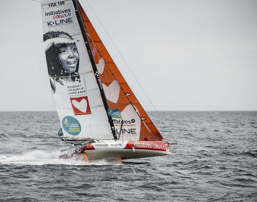 Sam Davies' IMOCA 60 Initiatives Coeur raise awareness and money for Mécénat Chirurgie Cardiaque, a humanitarian organisation that helps children suffering from heart defects © Initiatives Coeur