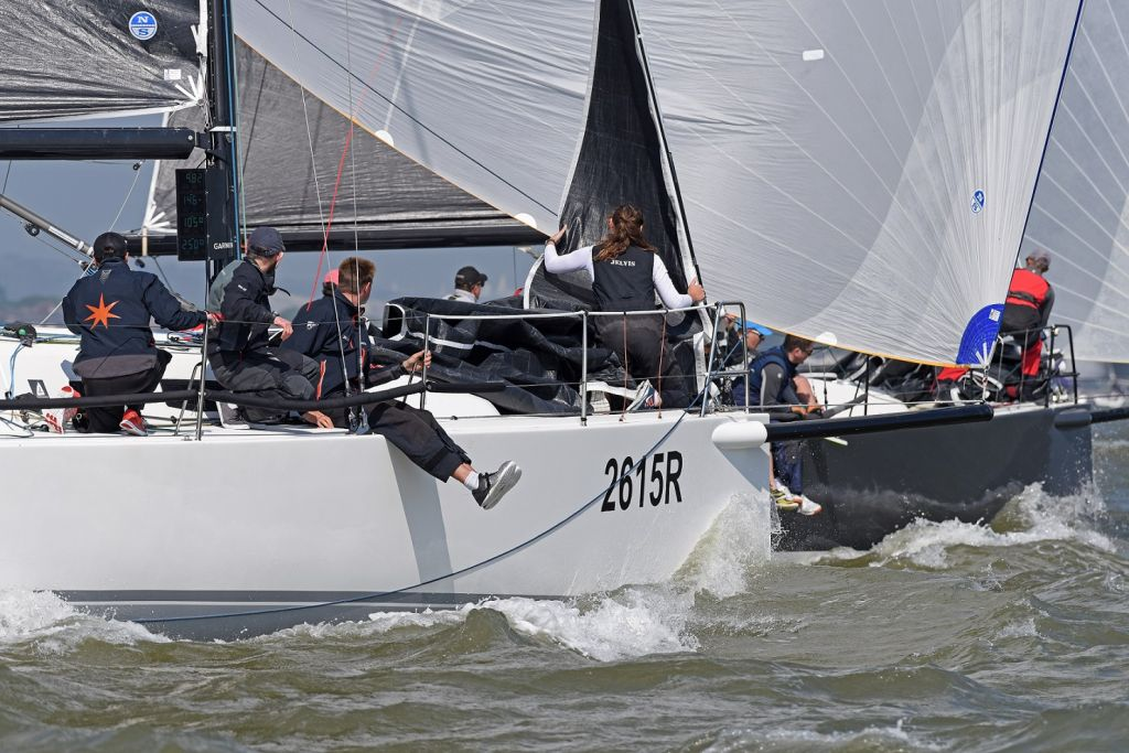 Close racing in the J/111 fleet during the 2018 RORC Vice Admiral's Cup © RORC/Rick Tomlinson