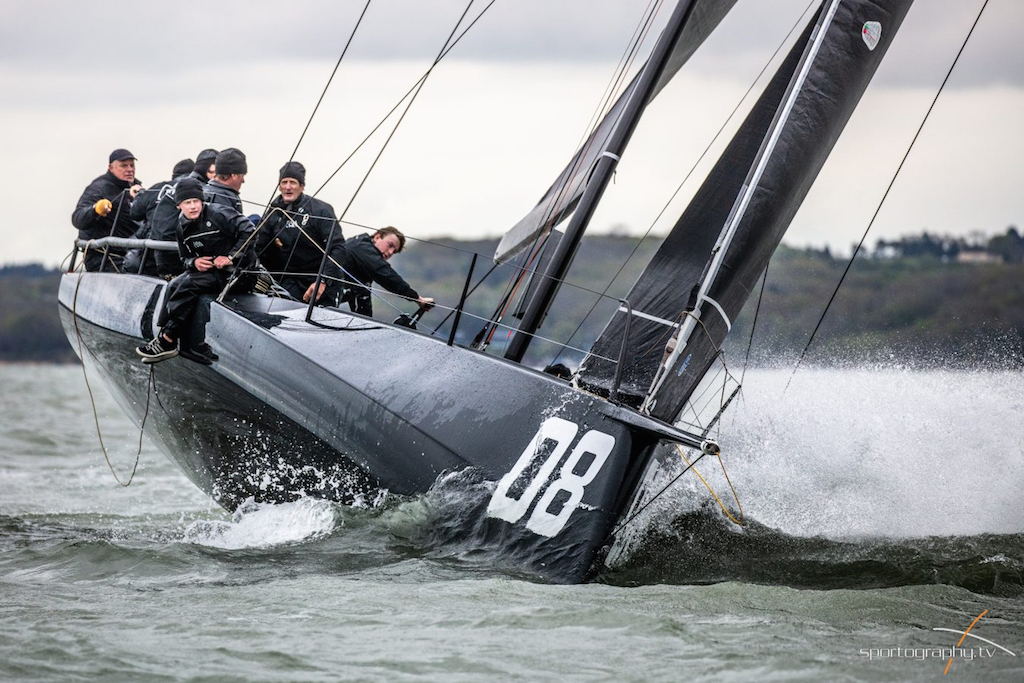 Niklas Zennström's Rán FAST40+ will be out on the Solent for the RORC Easter Challenge © Sportography.tv
