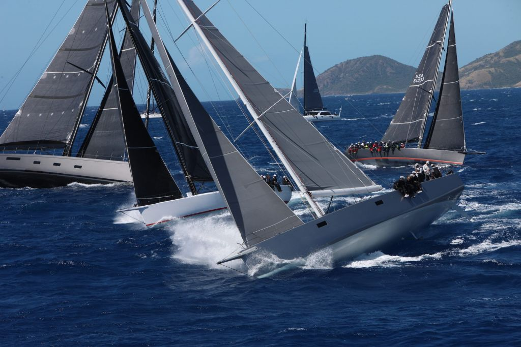 IRC Zero fleet at the start of the 2019 RORC Caribbean 600 © Tim Wright/Photoaction.com