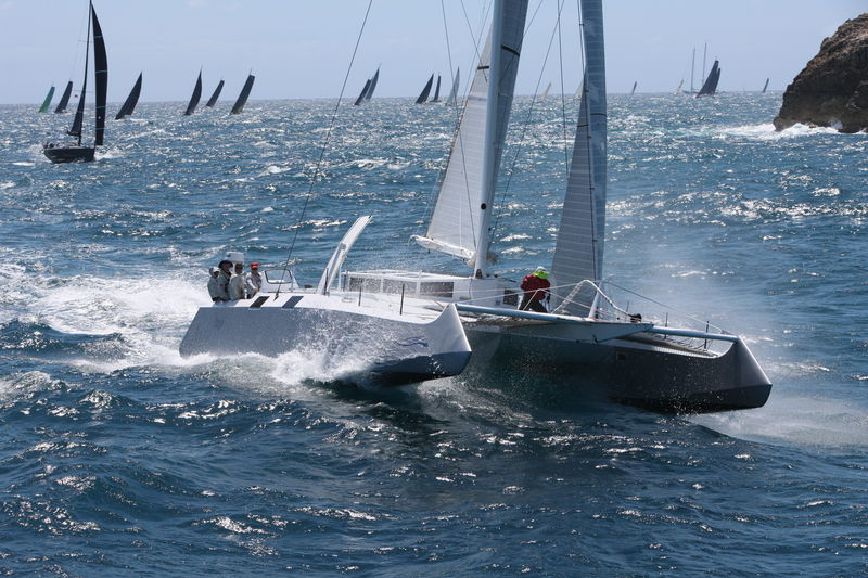 Bieker 53 Fujin competing in the 2019 RORC Caribbean 600 © Tim Wright/Photoaction.com