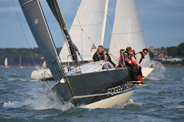 Noel Racine's JPK10.10 Foggy Dew winning IRC 4 - Photo © RORC/Rick Tomlinson