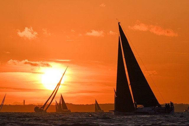 2019 RORC Cherbourg Race sunset - Photo © RORC/Rick Tomlinson