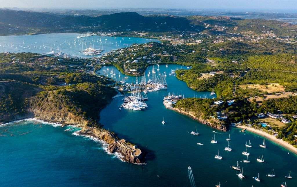 Antigua's historic Nelson's Dockyard, English and Falmouth Harbours provide a magnificent backdrop to the 11th edition of the RORC Caribbean 600 © Arthur Daniel