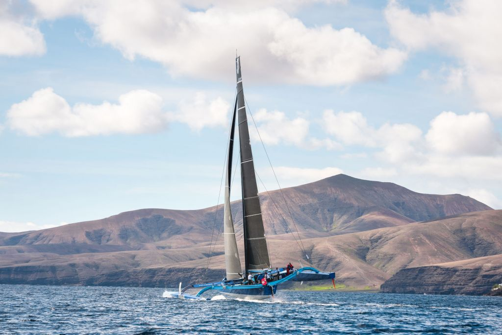 Peter Cunningham's PowerPlay at the start of the 2018 RORC Transatlantic Race from Lanzarote to Grenada 