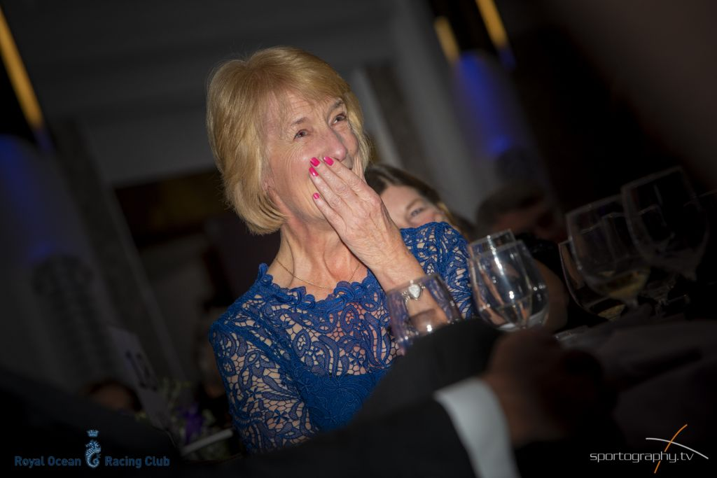 Janet Grosvenor was surprised to be honoured at the recent RORC Annual Awards ceremony © Sportography.tv