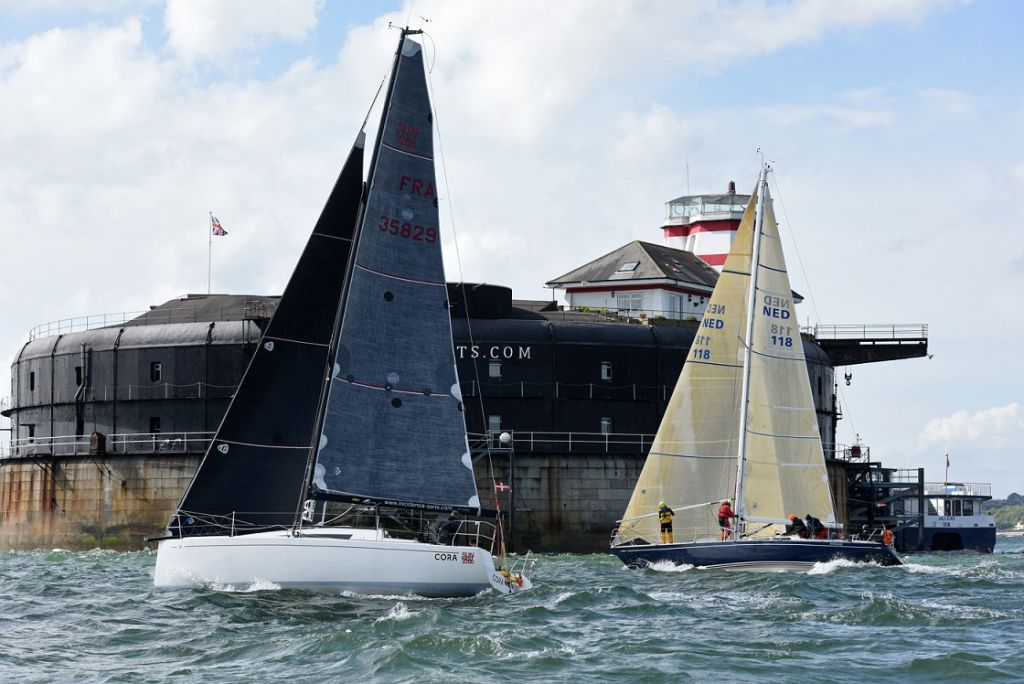 ©  Sun Fast 3200 Cora, sailed Two-Handed by Tim & Nigel Goodhew  © Rick Tomlinson/RORC