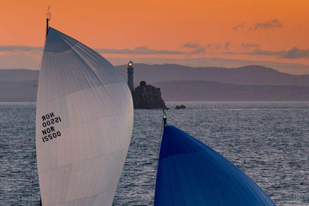Once sailors reach the Fastnet Rock, they are well over halfway to the finish in Plymouth © Rolex/Carlo Borlenghi
