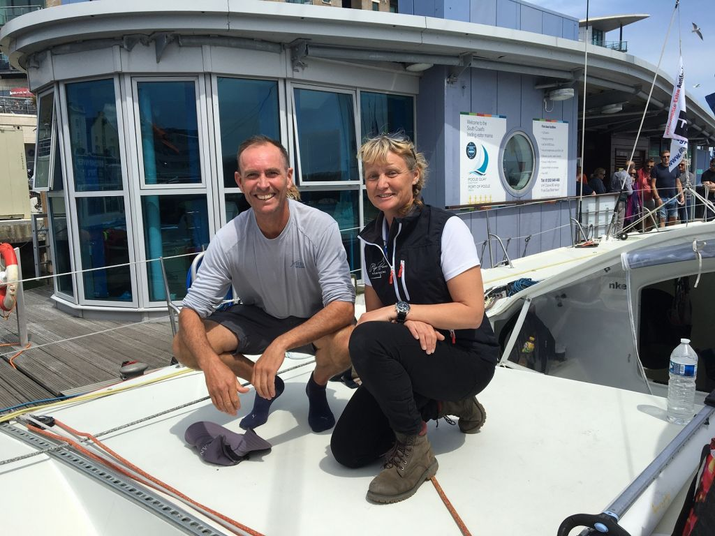 World speed sailing record holder, Paul Larsen joins Pip Hare on Superbigou - one of 24 IMOCA 60s taking part in this year's  Rolex Fastnet Race © Pip Hare Racing