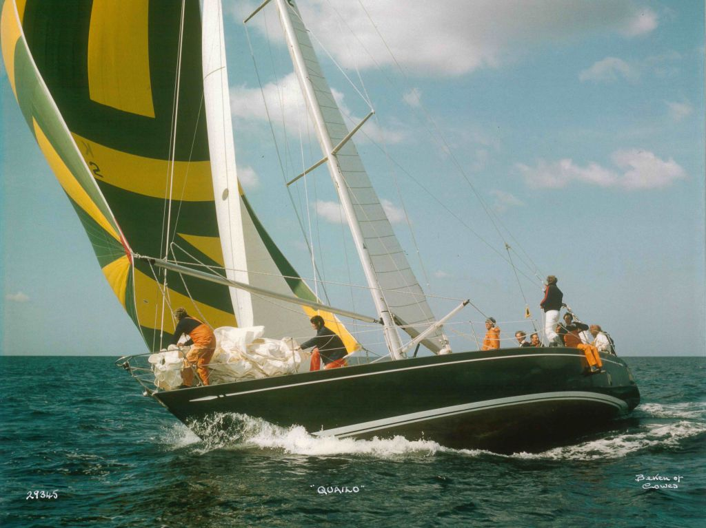 Janet Grosvenor (on the foredeck) qualified for RORC membership in 1978 on board Don Parr's yacht Quailo  © Beken of Cowes