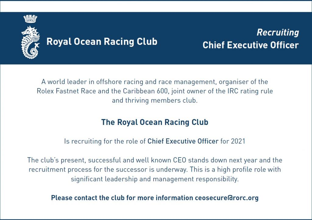 RORC CEO Advert December 2020