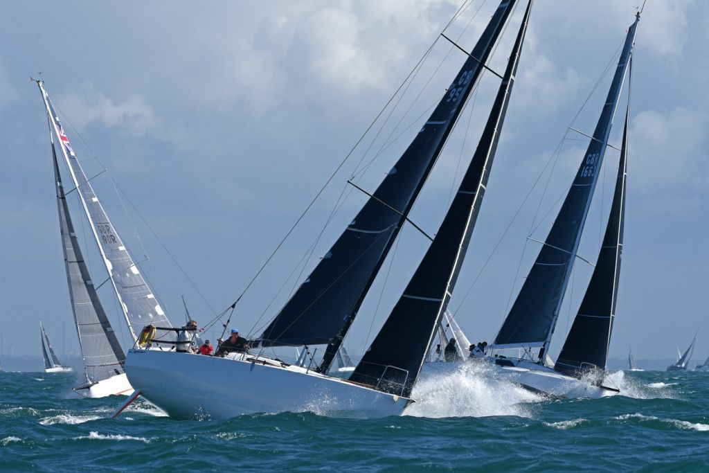 Over 40 yachts raced with just two crew in IRC Two-handed. Richard Palmer racing JPK 10.10 Jangada, with Jeremy Waitt, won the contest © Rick Tomlinson
