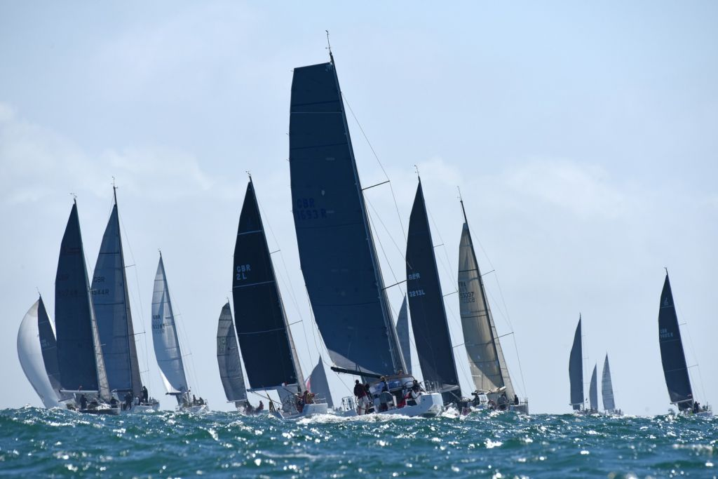 133 boats took part in the Race the Wight organised by the Royal Ocean Racing Club © Rick Tomlinson