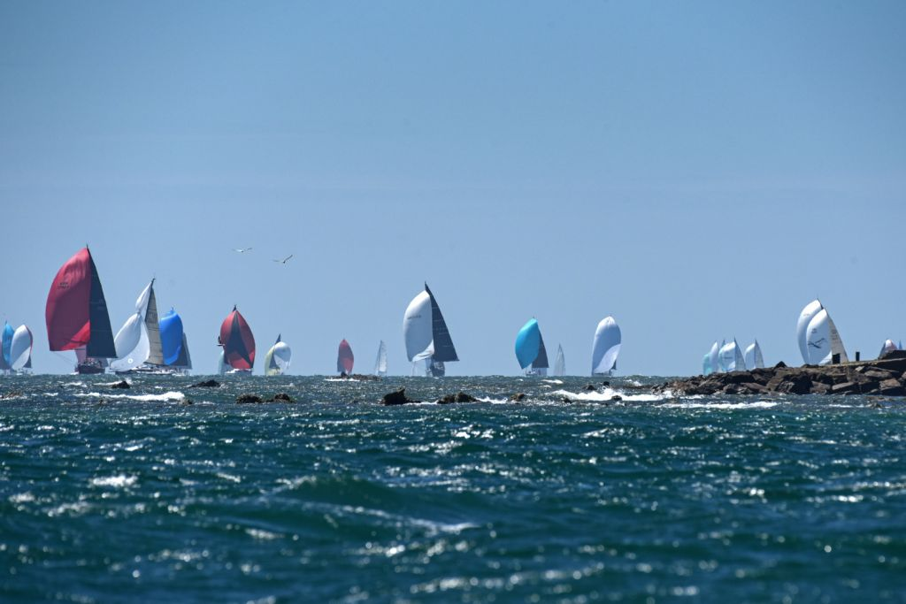Great racing for the RORC Race the Wight on 1st August 2020 © Rick Tomlinson