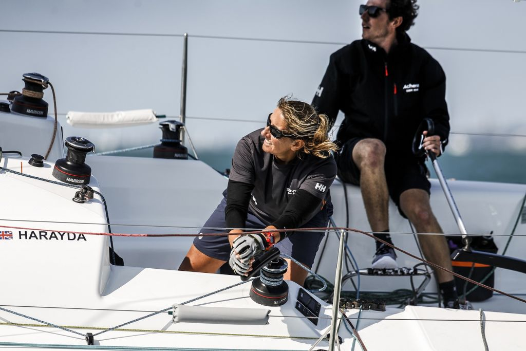 Winning last year's IRC Two Handed Nationals, James Harayda's Sun Fast 3300 Gentoo, will be competing with round the world sailor Dee Caffari in the  2021 Rolex Fastnet Race © Paul Wyeth/pwpictures.com
