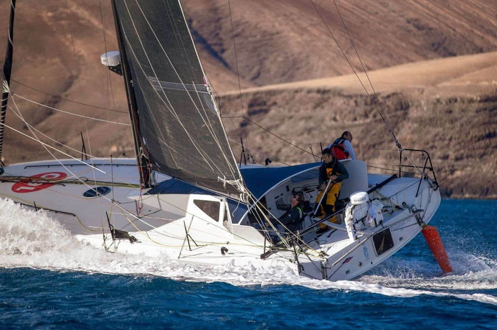 Current leading monohull - Olivier Magre's Class40 Palanad 3  © James Mitchell/RORC