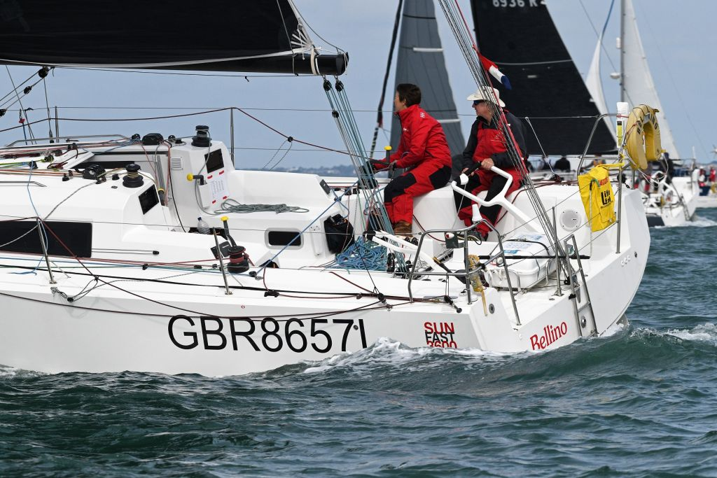 Competing in the RORC Channel Race on Bellino  © Rick Tomlinson