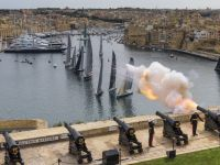 The Start of the 2015 Rolex Middle Sea Race. Credit: Rolex/Carlo Borlenghi